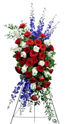 Patriotic Tribute from Dallas Sympathy Florist in Dallas, TX